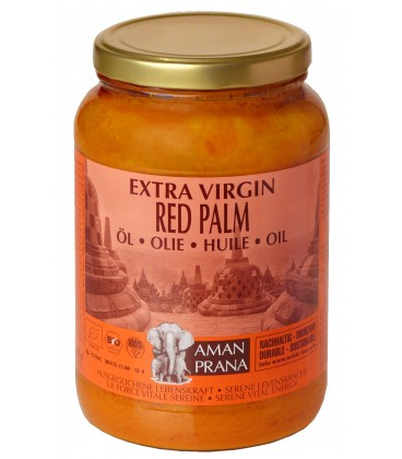 Red Palm Oil - extra virgin - from Amanprana - sustainably grown