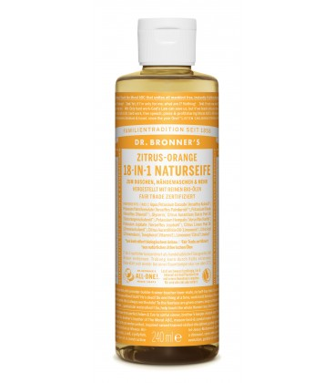 Dr. Bronner's Liquid Soap - Citrus-Orange
