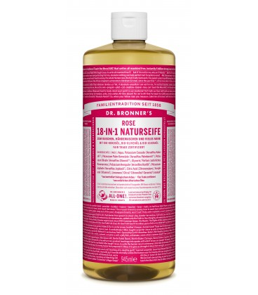 Dr. Bronner's Liquid Soap - Rose